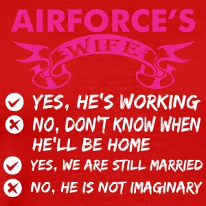 Airforces Wife Yes Hes Working - Men's Premium T-Shirt