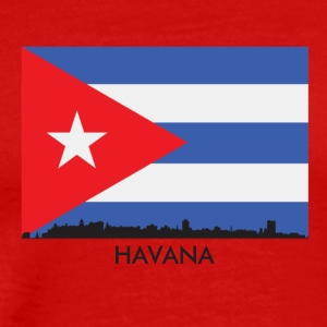 Havana Cuba Skyline Cuban Flag - Men's Premium T-Shirt
