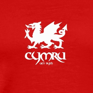tshirt-white-wales - Men's Premium T-Shirt