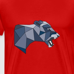 Geometric Lioness in Shades of Grey & Blue - Men's Premium T-Shirt