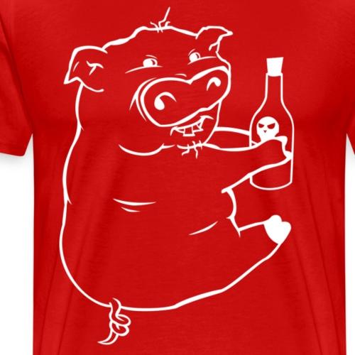 Poison Pig - Light Outline - Men's Premium T-Shirt