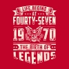 Life Begins at Fourty-Seven Legends 1970 for 2017 - Men's Premium T-Shirt