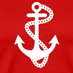 ANCHOR SAILOR CROSS TOP NAUTICAL RETRO TATTOO - Men's Premium T-Shirt