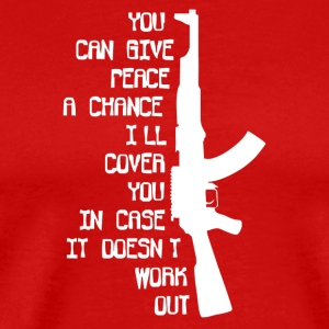 MILITARY ARMY MARINES AK47 Give Peace A Chance - Men's Premium T-Shirt