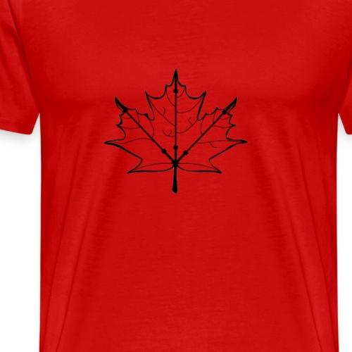 barbell Canadian leaf - Men's Premium T-Shirt