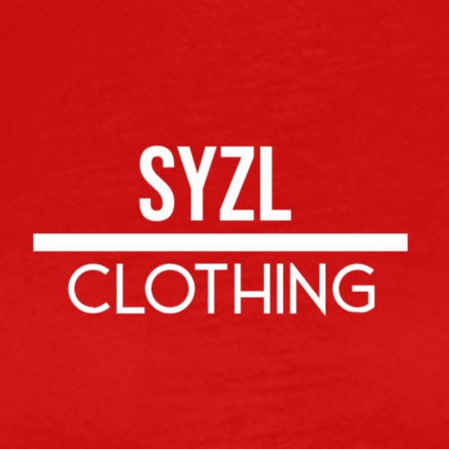 SYZL Clothing Text White - Men's Premium T-Shirt