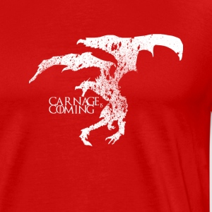 Carnage is Coming (white) - Men's Premium T-Shirt