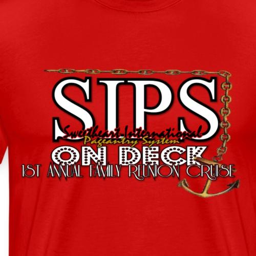 SIPS On Cruise white - Men's Premium T-Shirt