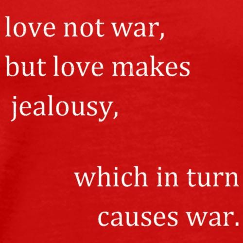 love not war (invert) - Men's Premium T-Shirt