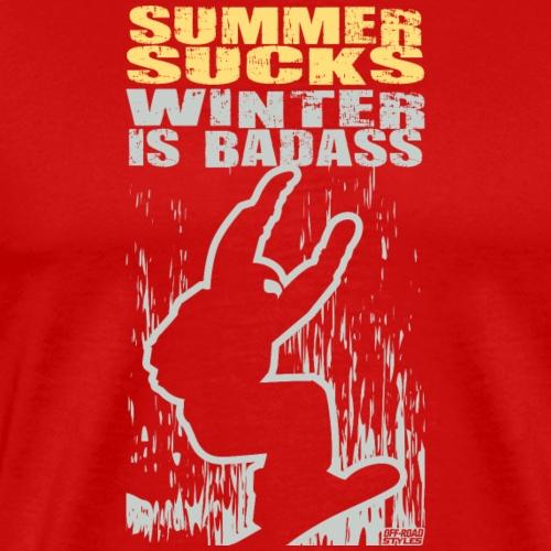 Snowboarder Winter Badass - Men's Premium T-Shirt