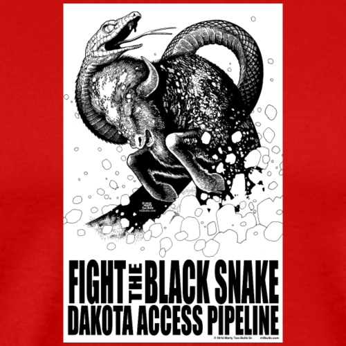 Fight the Black Snake NODAPL - Men's Premium T-Shirt