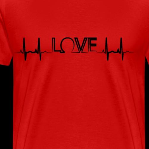 Love Heartbeat   EKG - Men's Premium T-Shirt