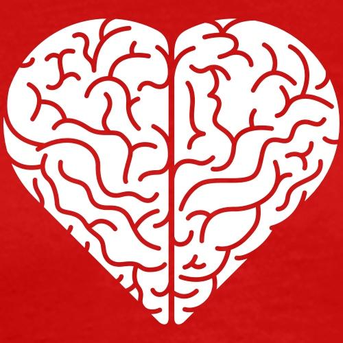 Lovely heart shaped brain - Men's Premium T-Shirt