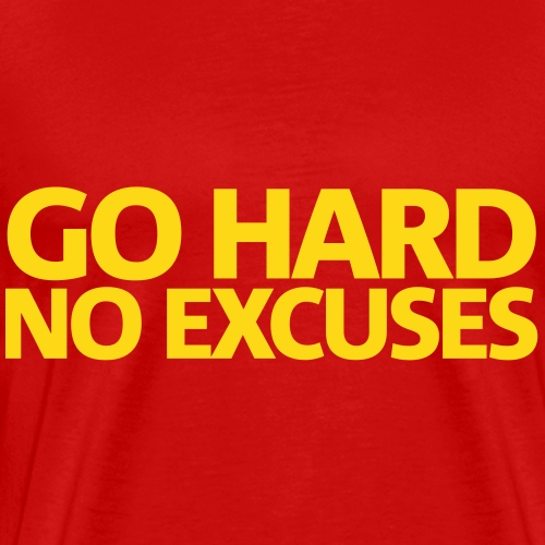 Go Hard Gym Motivation - Men's Premium T-Shirt