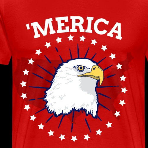 'Merica | American Bald Eagle - Men's Premium T-Shirt