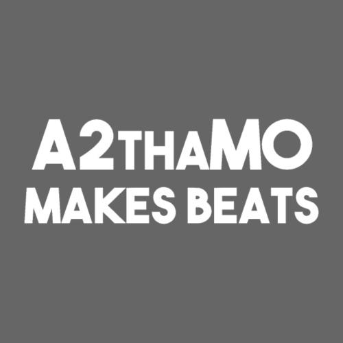 A2thaMoMakesBeats Logo White - Men's Premium T-Shirt