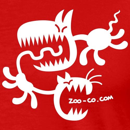 Deep heather Spooky Cat and Dog Women's T-Shirts - Men's Premium T-Shirt
