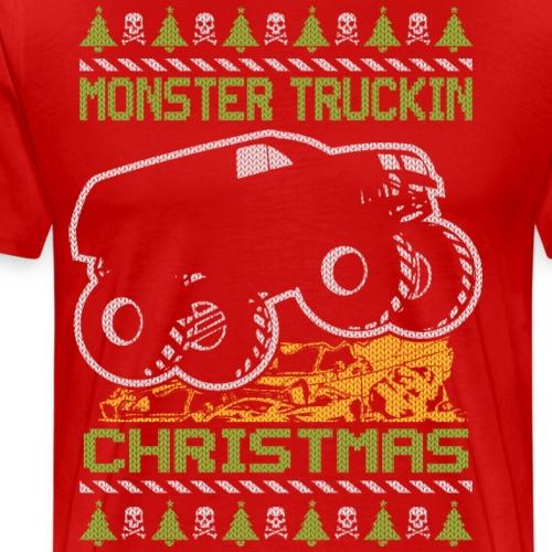 Monster Truckin Christmas - Men's Premium T-Shirt