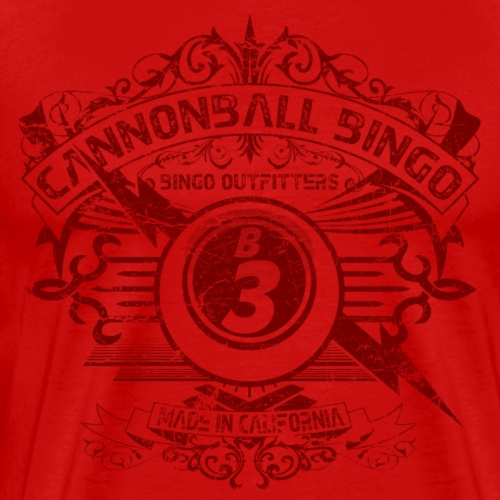 Vintage Cannonball Bingo Crest Dark Red - Men's Premium T-Shirt