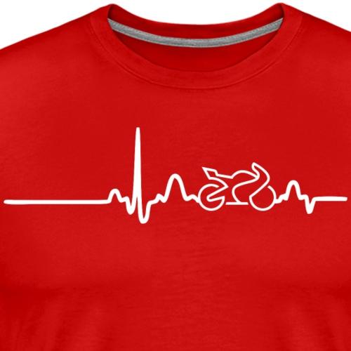 EKG HEARTLINE BIKE white - Men's Premium T-Shirt