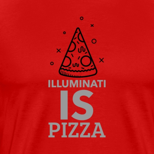 Illuminati and pizza - Men's Premium T-Shirt