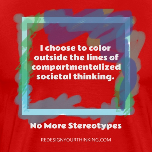 Color Outside the Lines! - Men's Premium T-Shirt