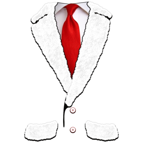 Santa Claus Suit and Tie Christmas Costume - Men's Premium T-Shirt