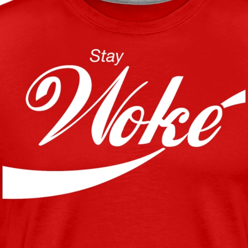 Stay Woke (curly design) - Men's Premium T-Shirt