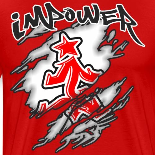 Impower street wear claw design - Men's Premium T-Shirt