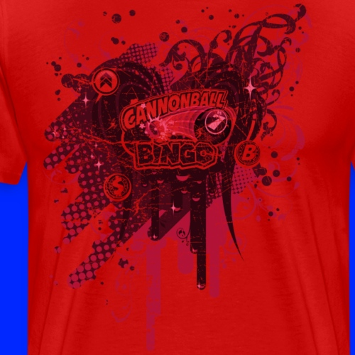 Vintage Cannonball Bingo Drip Red - Men's Premium T-Shirt