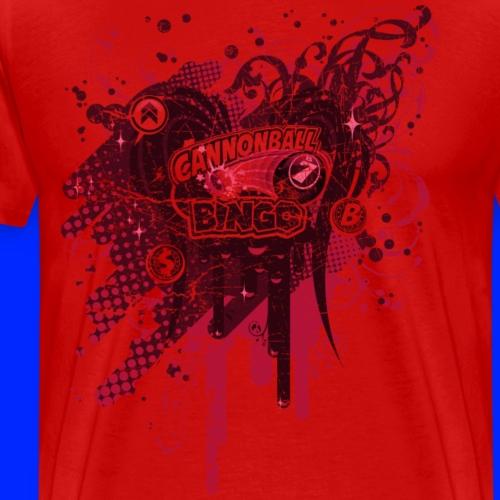 Vintage Cannonball Bingo Drip Red - Men's Premium T-Shirt
