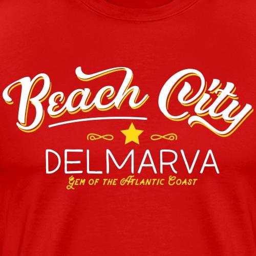 Beach City vintage script - Men's Premium T-Shirt