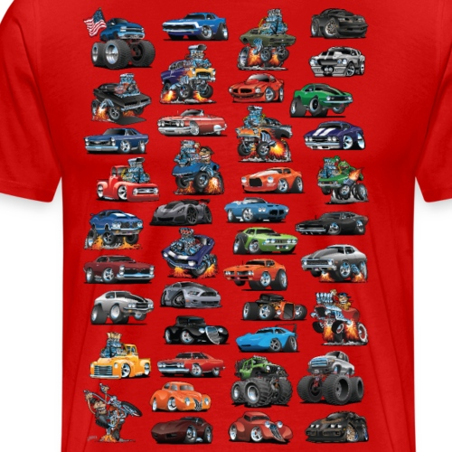 American Hot Rods, Muscle Cars, Pickup Trucks - Men's Premium T-Shirt