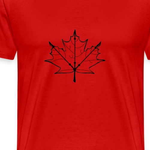 barbell Canadian leaf - Men's Premium T-Shirt