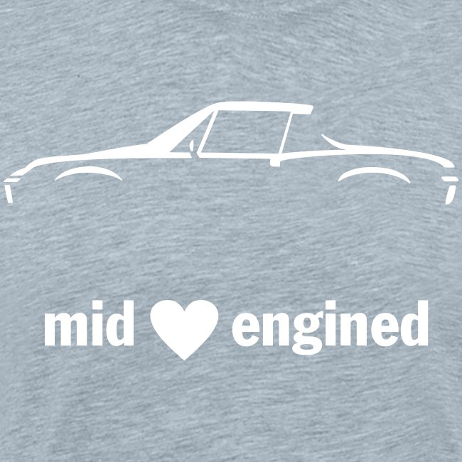 Mid Engined Sportscar for dark colored shirts