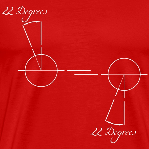 22 degrees of CX500 - no model shown - Men's Premium T-Shirt