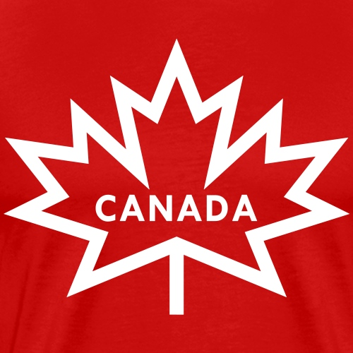 Spikey Maple Leaf with Canada - Men's Premium T-Shirt