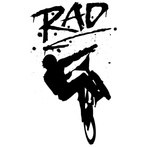 RAD BMX Bike Graffiti 80s Movie Radical Shirts - Men's Premium T-Shirt