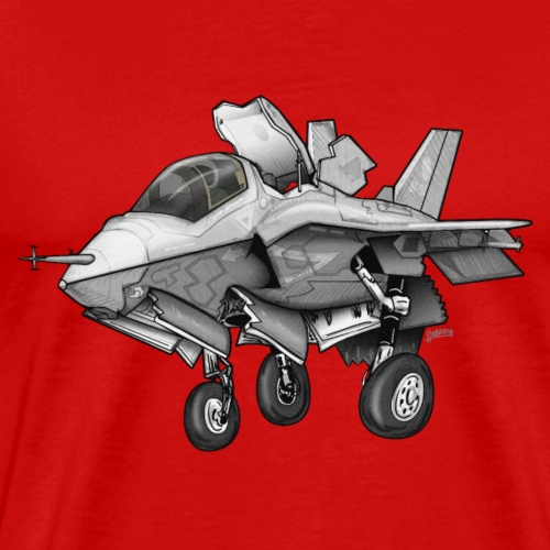 F-35B Lighting II Joint Strike Fighter Cartoon - Men's Premium T-Shirt