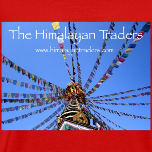 Stupa Prayer Flags - Men's Premium T-Shirt