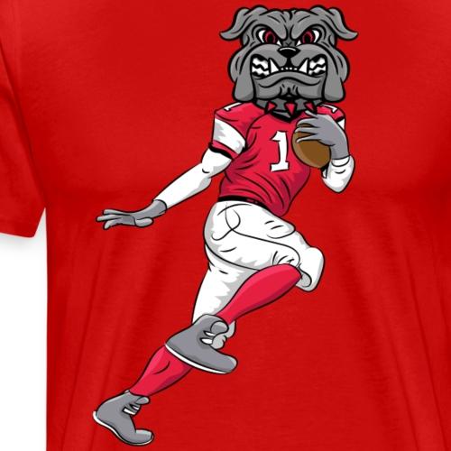 custom bulldog mascot wm - football - Men's Premium T-Shirt