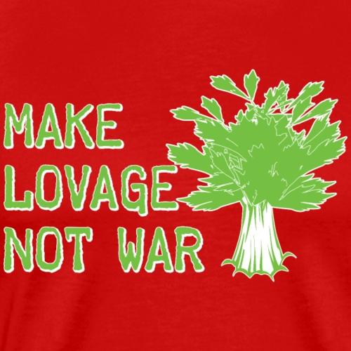 Make Lovage Not War - Men's Premium T-Shirt