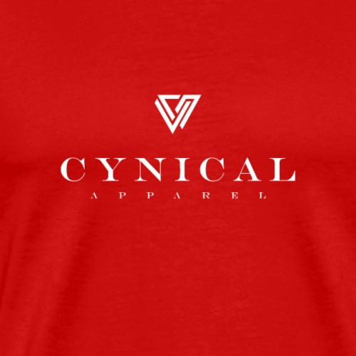 cyn-b-and-W-with-lettering-and-logo - Men's Premium T-Shirt