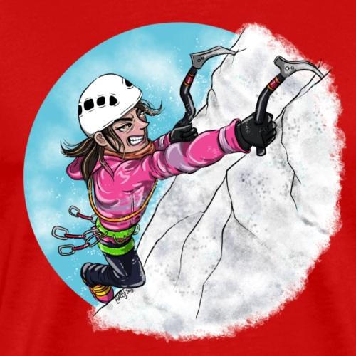 Ice Climber Woman - Men's Premium T-Shirt