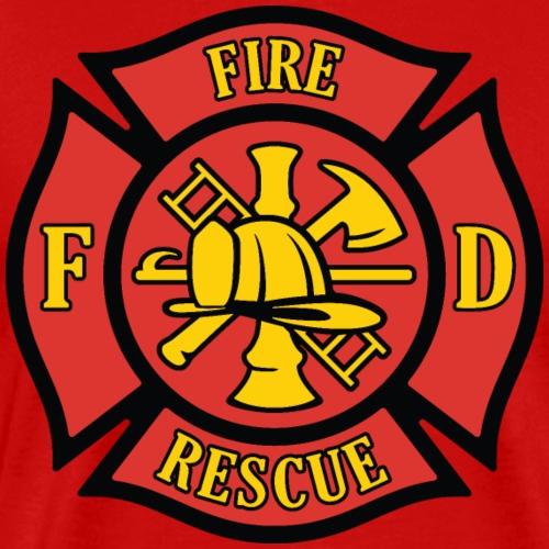 Firefighter Rescue Maltese Florian Cross - Men's Premium T-Shirt