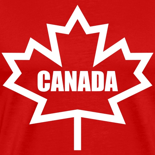 Bold Canada Maple Leaf - Men's Premium T-Shirt