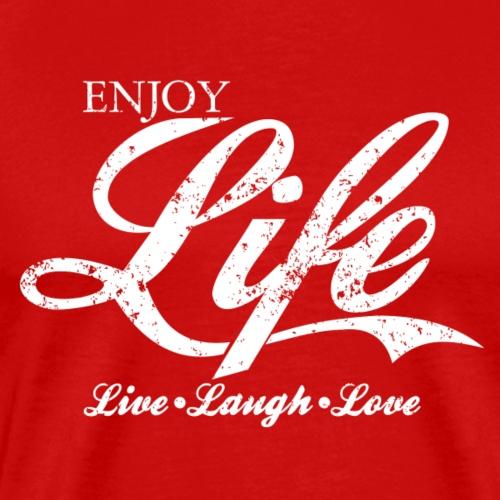 Vintage ENJOY LIFE, Live Laugh Love T-Shirt Design - Men's Premium T-Shirt
