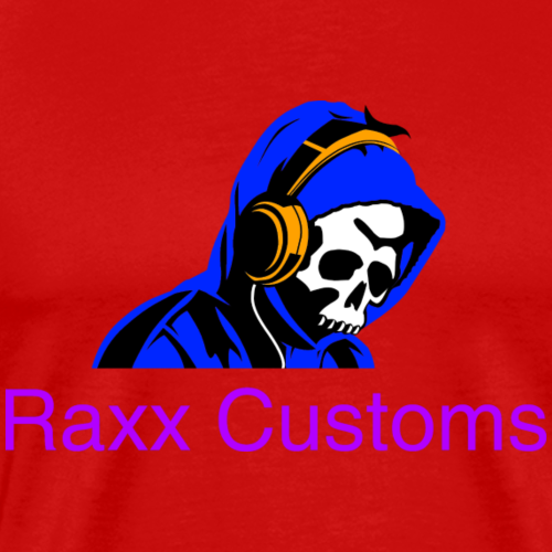 SKULL RAXX CUSTOMS logo blue - Men's Premium T-Shirt