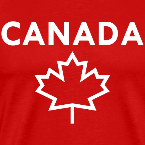Canada with Bold Maple Leaf - Men's Premium T-Shirt