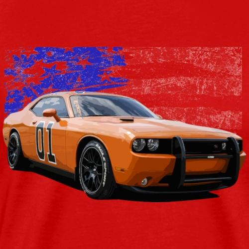 Dodge Challenger RT America Muscle Car Shirt - Men's Premium T-Shirt